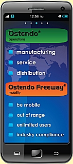 Ostendo Freeway on Smartphone